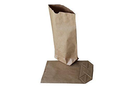 Papiertüten/Papierbeutel - Lote de 100 bolsas de papel sin asa (papel kraft de dos capas, 16,5 x 26cm, para carga de 1,5 kg), color marrón