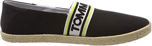 Tommy Hilfiger Tommy Jeans Stripe Summer Shoe, Zapatos de Cordones Oxford para Hombre, Negro (Black 990), 43 EU