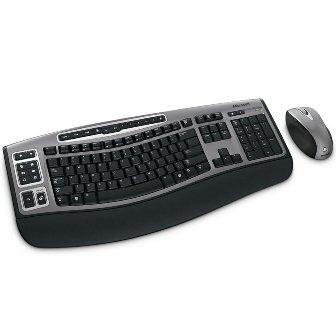 MICROSOFT 69C-00001 RF Wireless Ergonomics Mouse/Keyboard Combo Black Retail