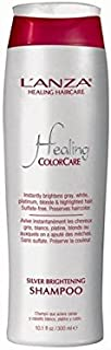 L'Anza Healing Colorcare Silver Brightening Shampoo (300ml) - 銀光沢シャンプーを癒し'アンザ(300ミリリットル) [並行輸入品]