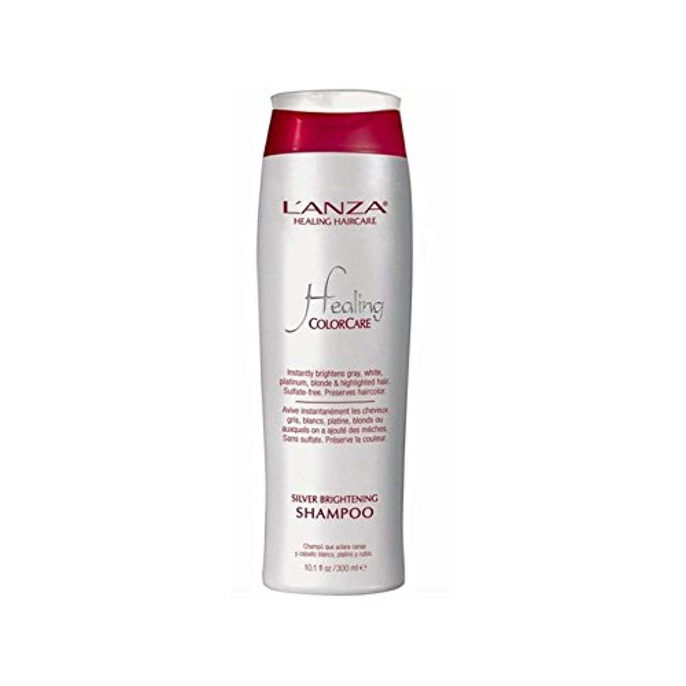 信仰コマンドバッジ銀光沢シャンプーを癒し'アンザ(300ミリリットル) x4 - L'Anza Healing Colorcare Silver Brightening Shampoo (300ml) (Pack of 4) [並行輸入品]