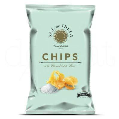 Patatas chips Sal de Ibiza 125gr. Sal de Ibiza. CAJA 12 UNIDADES (125gr x 12)