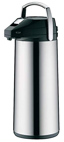 alfi 0987.000.300 Getränkespender, Pumpkanne, Edelstahl poliert 3,0 Liter, 12 Stunden heiß, 24 Stunden kalt