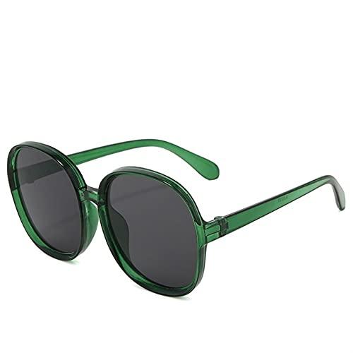 AMFG Gafas de sol de marco redondo, marco grande, gafas de sol de fusión de la calle, decoración femenina y femenina, Ancla de fotos, Viajes de sombra al aire libre (Color : C)