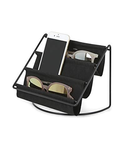 Umbra Hammock Accessoire Organizer- Ablage für Schlüssel, Sonnenbrillen, Lesebrillen, Handys, Briefe und Mehr, Metall, Schwarz, Klein