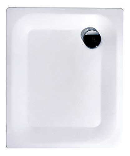 Calmwaters® - Essential 2 - Rechteckige Bodengleiche Dusche aus Stahl-Emaille in 90 x 75 x 2,5 cm - 01XP2224