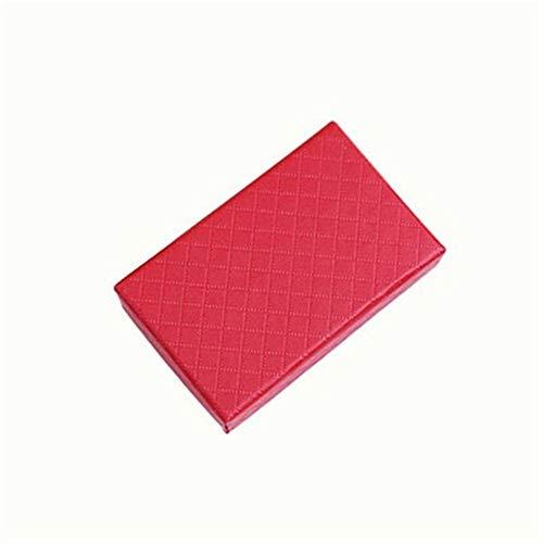 32pcs joyería caja 8x5CM anillo collar de caja for la joyería de múltiples colores joyería Cajas de empaquetado del regalo de exhibición del pendiente Negro Esponja gift (Color : Red)