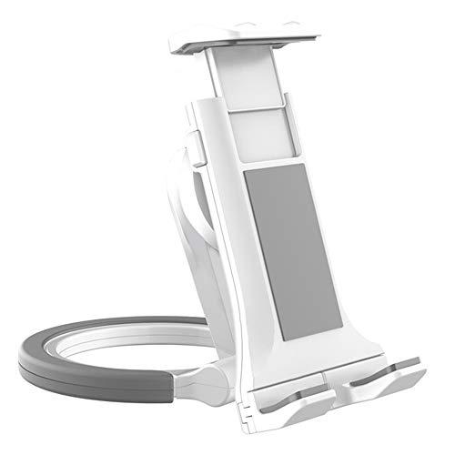 2 en 1 Soporte Stand para Holder Tablet Pared Cocina, Soporte Universal Foldable Tableta Stand Cocina Adjustable Soporte de Mesa Multiángulo o Montaje en Pared para Movil y Tablets(Blanco)