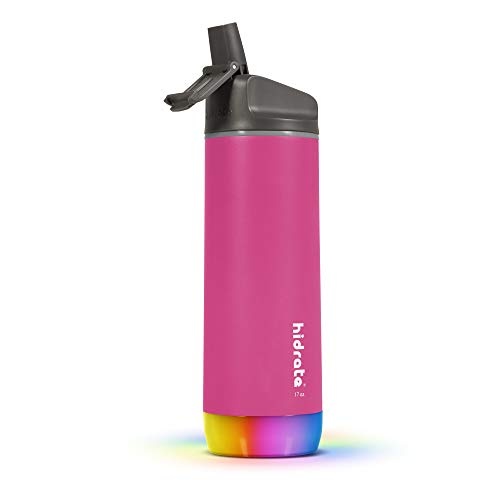 Hidrate Spark Steel Smart Water Bottle - Tracks Water Intake & Glows to Remind You to Stay Hydrated,...