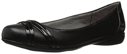 LifeStride Women's Aliza Flat, Black, 7.5 M US