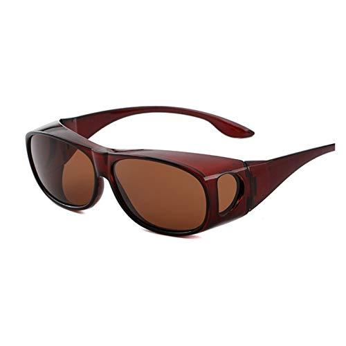 Lucky DuDu Gafas de Pesca Gafas de Sol polarizadas Unisex Polarizadas UV Protección de conducción Lentes de Resina de Cristal Gafas (Color : 5, Size : One Size)