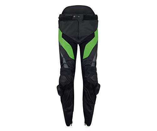 Kawasaki KRT Herren Lederhose schwarz/grün Größe XL