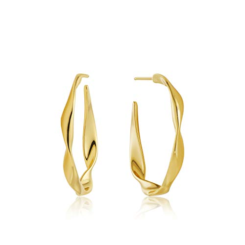 Twister Twist Hoop earrings gold E012-04G