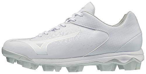 Mizuno 320591.0000.11.0900 Finch Select Nine Womens Molded Softball Cleat White (0000) 9 (0900)