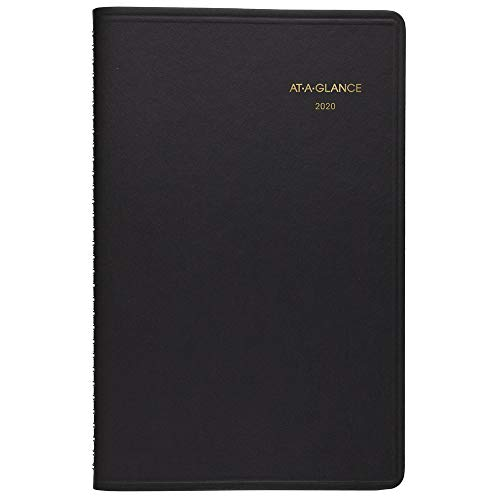 AT-A-GLANCE 2020 Weekly Planner/Appointment Book, 5-1/2u0022 x 8-1/2u0022, Small, Black (7010005), 701000520