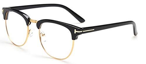 WHAELI James Bond Sonnenbrillen Herren Sonnenbrillen Damen Super Star Celebrity Driving Sonnenbrillen Tom für Herren Brillen schwarz klar