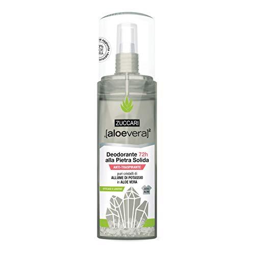Zuccari Aloevera2 - Deodorante 72H Alla Pietra Solida Spray, 100ml