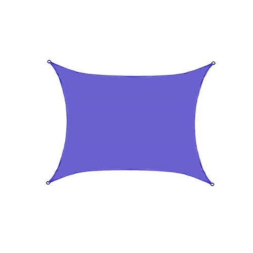 VOXKELY Sonnensegel Rechteck Sonnenschutzsegel Garten UV Undurchlässig Patio Outdoor Vordach Markise (2m*1.8m,Blau)