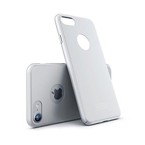 Urcover Custodia Protettiva Apple iPhone 7/8 Plus, Case Antishock Cover Ultrasottile Ultra-Slim Hard, Guscio Rigido in Argento, Bumper Armor Antiurto Anticaduta Lavabile