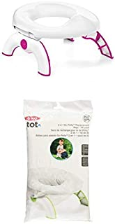 OXO Tot 2-in-1 Go Potty for Travel in Pink and Go Potty Refill Bags, 30 Count