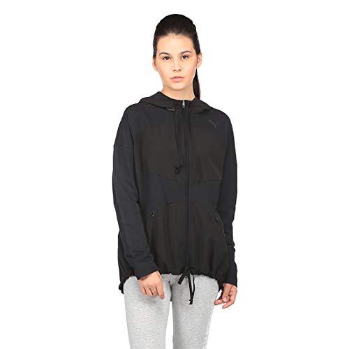 PUMA Damen Transition FZ Jacket W Mantel, Black, S
