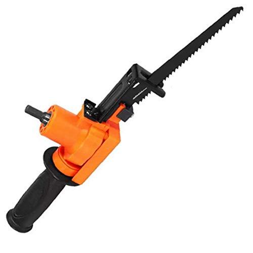 Eléctrica sierra de vaivén eléctrica Motosierra Taladro alternativa para herramientas de uso Madera Metal rebanar Herramienta de mano de Orange