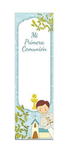 Paq. 24 Marcapáginas Comunión Personalizable Niño Iglesia