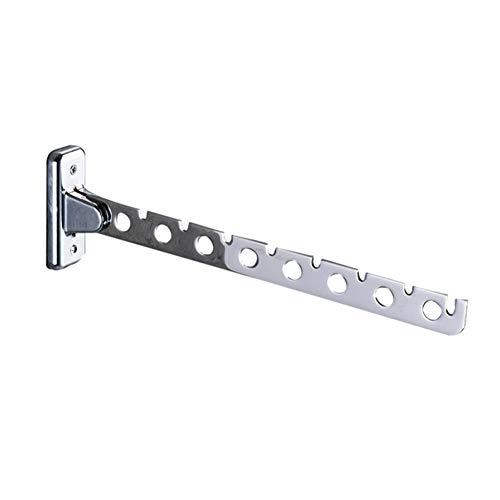 SDYDAY 6/8 agujeros montado en la pared, perchero de acero inoxidable, soporte plegable para ropa de lavandería, armario organizador (8 agujeros)