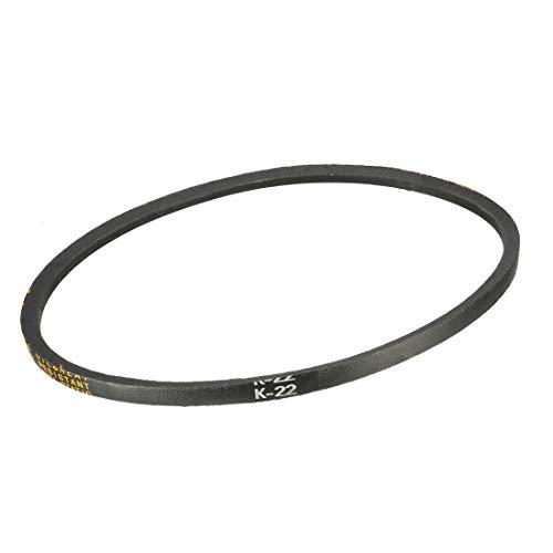 uxcell K-22 V Belt Machine Transmission Rubber,Black Replacement Drive Belt.