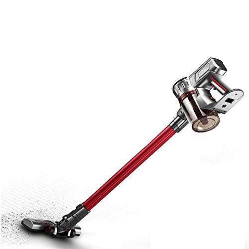 GDYJP Aspirador de Mano inalámbrico sin Cable 17KPA para Uso doméstico Sweeper eléctrico Máquina de Limpiador de alfombras portátil Smart Broom (Color : Red)