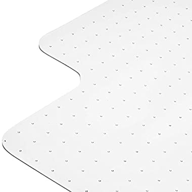 Heavy Duty Carpet Chair Mat Non Breakable Polycarbonate Thick And Sturdy Highly Transparent Premium Quality For Low And Medium Pile Carpets 36  X 48  1/8  With Lip Shipped Flat