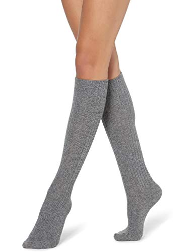 Calzedonia Damen Lange Socken in Rippe aus Wolle & Kaschmir