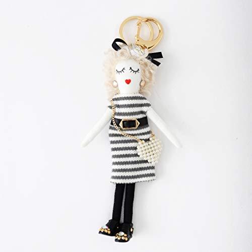 バッグチャーム 大人 かわいい オシャレレディードールチャーム レース ビジュー サングラス 人形 大人 キーホルダー 女の子 アフロ バックチャーム レディース レデイース キ-ホルダ- バッグ チャ-ム vnsa-c493 (J)