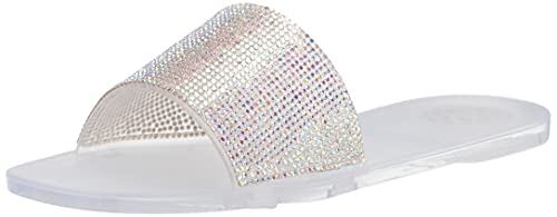 Vince Camuto Women's JAQUELL Jelly Sandal Slide, Clear, 9