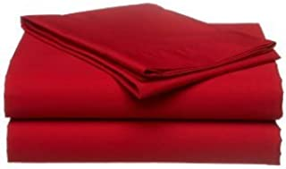 Twin Extra Long 100% Cotton jersey Sheet Set - Soft and Comfy - By Crescent Bedding -Twin XL Red