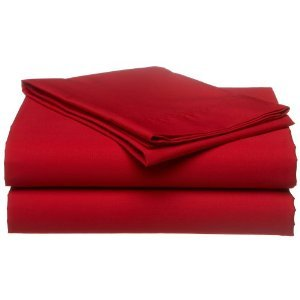 Crescent Bedding Twin Extra Long Micro Fiber Sheet Set - Soft and Comfy Red Twin XL