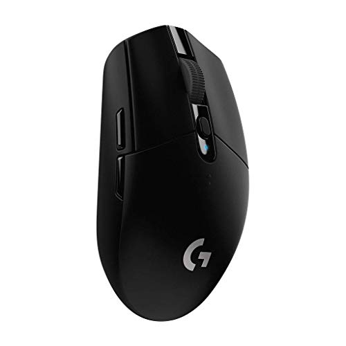 Logitech G305 LIGHTSPEED Mouse Gaming Wireless, Sensore 12K HERO, 12.000 DPI, Design Leggero, 6 Pulsanti Programmabili, Batteria 250 Ore, Memoria Integrata, PC Laptop - Nero