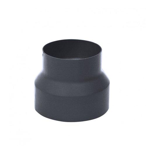 Kamino-Flam buisverlenging, Ø 150 mm naar Ø 130 mm, hittebestendige Senotherm-coating, verklein stuk voor afvoerbuizen van oven, open haarden en schoorstenen, EN1856-2 standaard, gietijzer, grijs