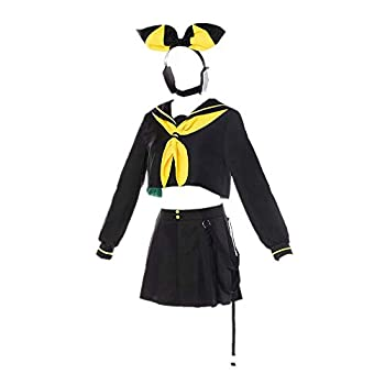 CHANGL Kagamine Rin & Len Cosplay Costume Daily School Uniform Dress JK Suits Skirt