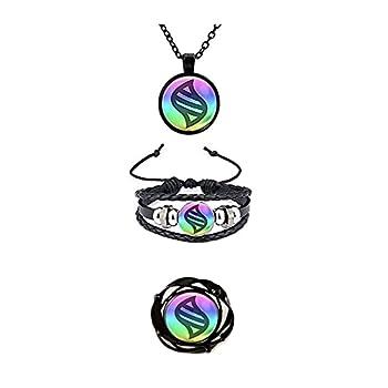 calhepco 2pcs Cartoon Ball Game Mega Stone Bracelet and Necklace Charms Toy Pendant Box