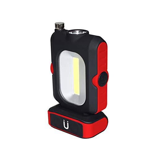 Luz de Trabajo LED, Linterna para Acampar TONWON, Luz de Inspección Alimentada por Batería con Imán y Antena Estirable Luz para el Hogar, Taller, Automóvil, Campamento, Uso de Emergencia - Rojo