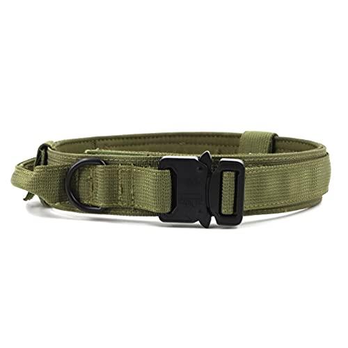 ASFD Collar de perro ajustable suave y cómodo collar de perro anti-perdido verde