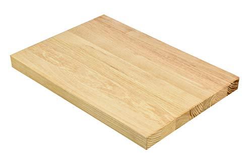 Planche à découper en bois de robinier exclusif | Planche à déjeuner en bois naturel (Robinia) | 22 x 250 x 350 mm, 1,4 kg | Planche à pain ou assiette à gâteau pour la cuisine, grande