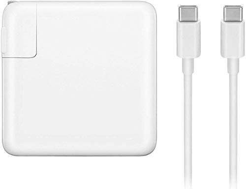 MANCASSY 61W USB Type C Adapter Charger, Compatible with MacBook Pro 13 inch, 12 inch, MacBook Pro Charger, MacBook Charger USB C, MacBook Air Charger, Laptop Charger, Samsung.