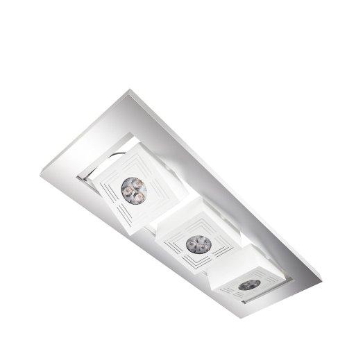 Osram 73238 Tresol Cube Trio Ceiling Luminaires LED Encastrés au Plafond Blanc 3 x 4,5 W 230 V