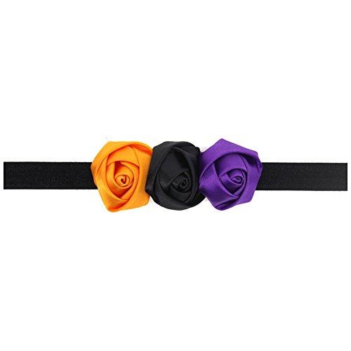 CAOLATOR 1 pc Violet Bandeau bébé Bandes de tête Superbes et Extensibles Bandeau Élastique Nœud pour Bébé Fille Enfant Photographie