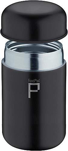 Pioneer Flasks FoodPod Thermo-Speisebehälter 400 ml Edelstahl Doppelwandig Isolierbecher für Lebensmittel 6 Stunden Heiß 24 Stunden Kühl Auslaufsicher BPA-Frei – Schwarz HCP-280SS
