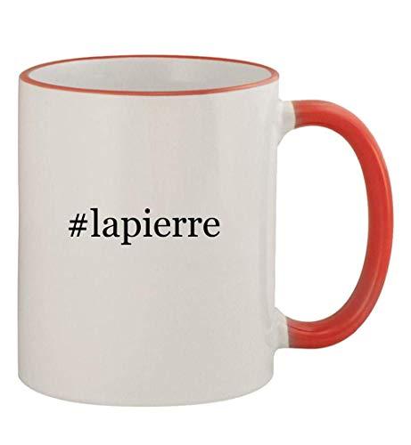 #lapierre - 11oz Colored Handle and Rim Coffee Mug, Red