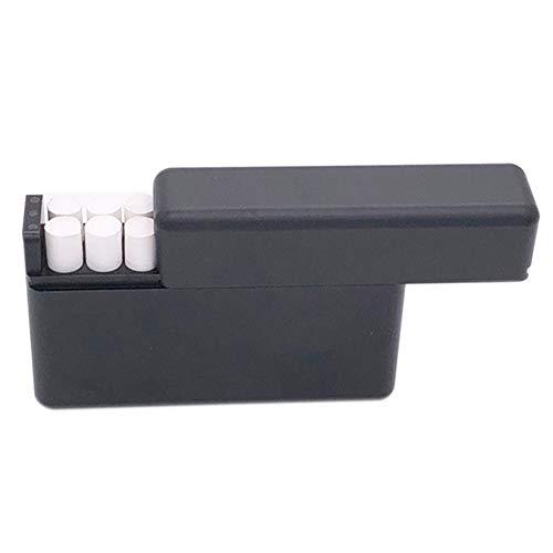 DrafTor 18 Lcher Aluminium Aufbewahrungsbox fr I-Q-O-S 18 Stck Zigarettenspitze fr Zigarettenpatrone (schwarz)