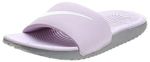 Nike Kids Kawa Slide (GS/PS) Sandal, Iced Lilac/White-Particle Grey, 7 Big